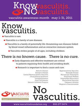 2011 Vasculitis Awareness Month Poster